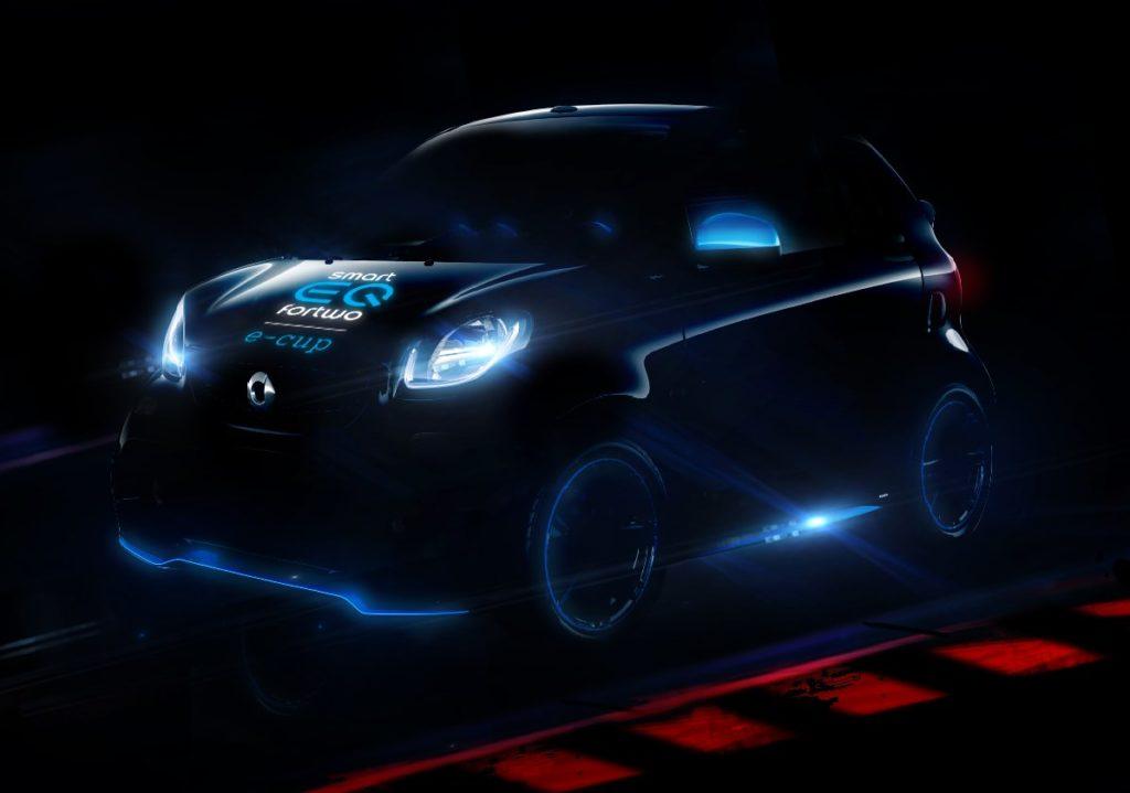 L'immagine della Smart EQ che ha debuttato nelle piste italiane nel 2018