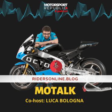 Cover della serie Motalk con Luca Bologna